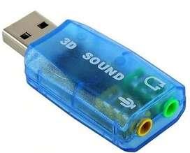 TARJETA SONIDO 3D 5.1 CANALES USB AUDIO HD MICROFONO EXTERNO