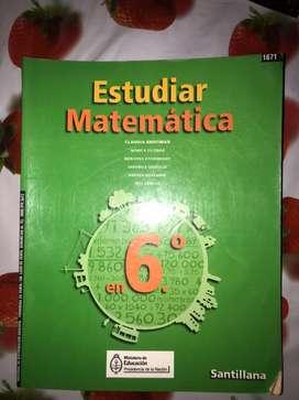 Estudiar Matematica 6 santillana