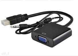 Cable Convertidor Hdmi A Vga (incluye Audio) - No PS4