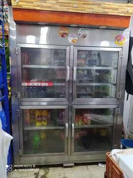 Nevera refrigeracion vertical 4 puertas panoramica