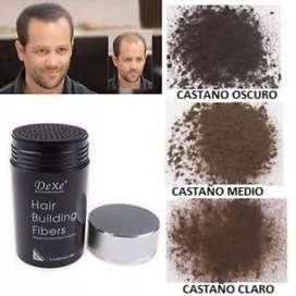 FIBRA. CAPILAR  DEXE - TOPPIK COLOR NEGRO ORIGINAL calvicie alopecia