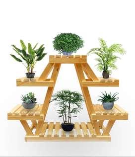 Exhibidor de materas - Mueble jardín - Jardinera en madera de Pino interiores y exteriores