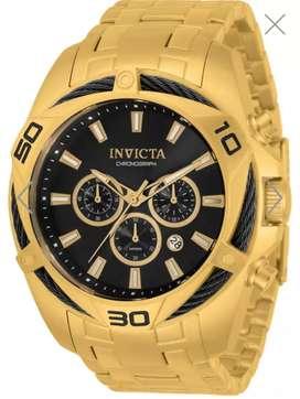 Reloj Invicta Bolt dorado nuevo original oro. Relojes originales Fossil Guess Tommy MK