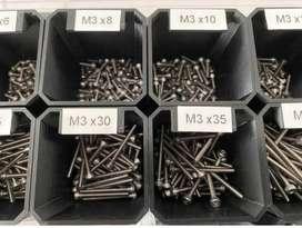 casillero para tornillos o artesanos y miniatura