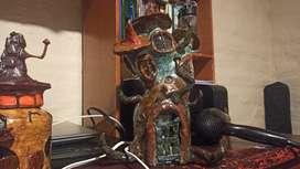 Casita lámpara hecha a mano