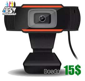 Camara Web Pc Hd 720p Webcam Windows Mac desde 15$