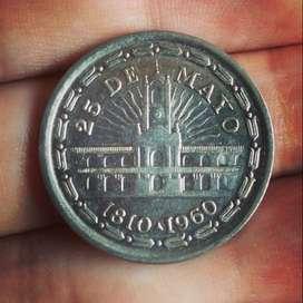 Argentina 1 Peso 1960 - Conmemorativa a los 150 Años de la Revolución de Mayo