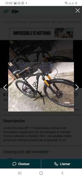 Bicicleta cliff de 11 velocidades