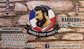 SERVICIO DE BARBERÍA EN TODA CLASE DE CORTES