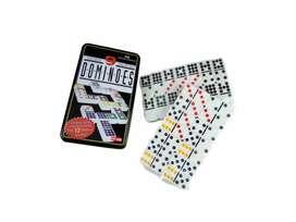 Juego De Domino Doble 9 Juego De Mesa Familiar De Seis Colores 55 Con Estuche De Lata