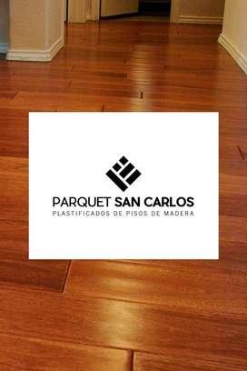 Pulido y plastificado de pisos de madera Parquet San Carlos
