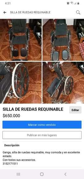 Silla de ruedas requinable