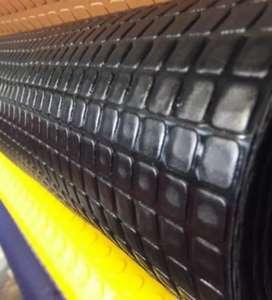 Dos rollos de piso pitagoras PVC negro