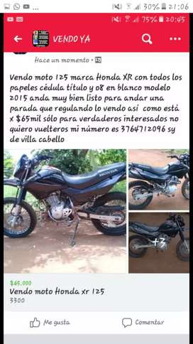 Vendo moto Honda xr