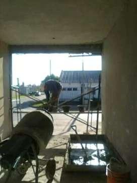 Trabajo de albañilería y pintura