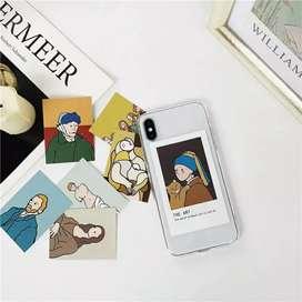 Forro Case iPhone original juvenil obras de arte intercambiables