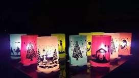 Faroles navideños ecológicos y reutilizables + velas