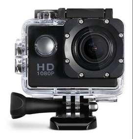 CAMARA FULL HD GO PRO SPORTS CAM FULL HD 1080 P - IMPERMEABLE- Casco Motociclista + Kit de instalar