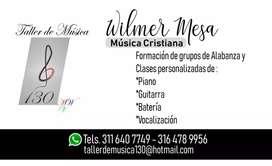 CLASES DE GUITARRA Y PIANO SÓLO MÚSICA CRISTIANA