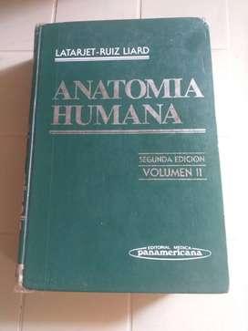 ANATOMÍA HUMANA: LATARJET-RUIZ LIARD SEGUNDA EDICIÓN VOLUMEN II EDITORIAL MEDICA PANAMERICANA 1994