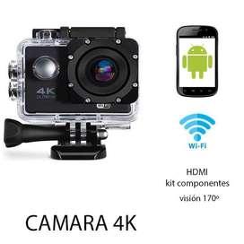 Camara Deportiva 4k Tipo Go Pro Sumergible  Control