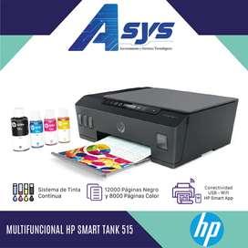 Impresora HP 515 WiFi Multifunción tinta continua