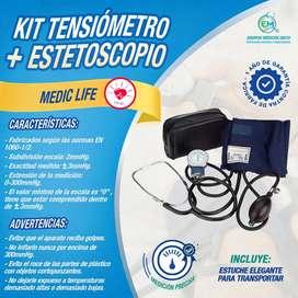 Kit Completo Tensiometro + Estetoscopio - Equipos y Mobiliario Médico