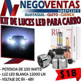 KIT DE LUCES LED R11 PARA CARRO