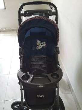Caminador y coche de bebe