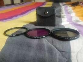 Vendo filtros UV, FL-D, CPL DSLR 58mm