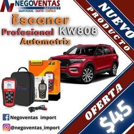 SCANNER AUTOMOTRIZ KW808 PROFESIONAL