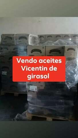 Vendo aceites Vicentin de girasol