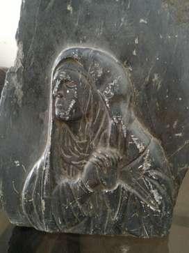 Talla en Piedra Virgen Hermosa Unica