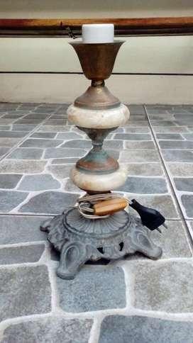 Hp Antigua Lámpara de Mármol Y Bronce