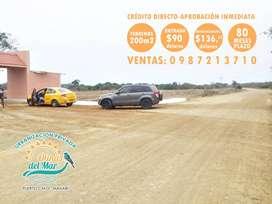 Terrenos en Urbanizacion Privada en Puerto Cayo, Adquiere Hoy Mismo con solo 90 Usd de Entrada y firma contrato, SD1