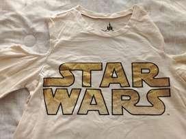 Camiseta Blusa Dama Mujer Star Wars Original Disney Talla M
