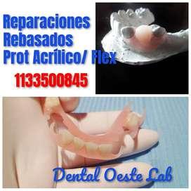 Prótesis dental de Acrílico / fleixibles .Reparaciones