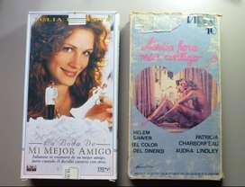 PELICULAS VHS X 2 MEDIA HORA MAS CONTIGO Y LA BODA DE MI MEJOR AMIGO