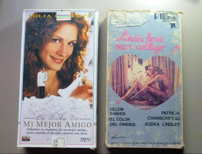 PELICULAS VHS X 2 MEDIA HORA MAS CONTIGO Y LA BODA DE MI MEJOR AMIGO 0