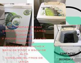Lavarropa Dream Semiautomático 7 programas de lavado