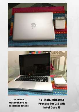 "Se vende MacBook Pro 13"" 2012 en excelente estado."