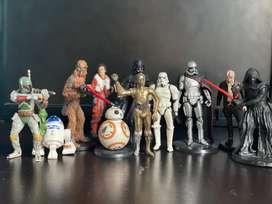 Star wars importados 11 muñecos de 5 pulgadas