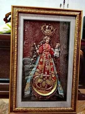 Cuadro de la Virgen del cisne! Enmarcado! Magníficado estado!