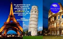 viaje a EUROPA te garantizamos el ingreso o la devolucion de tu dinero