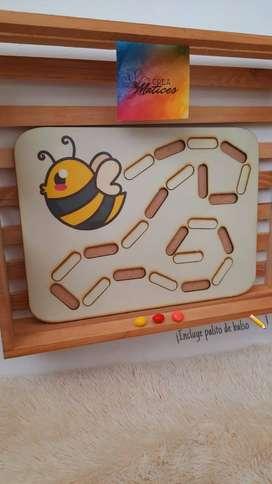 Juego didáctico ¡aprendamos a hacer trazos!