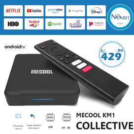 ¡NUEVO! Android TV Box Mecool KM1 Collective – 4Gb / 64Gb con licencia Google oficial