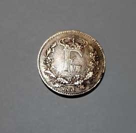 Moneda dinamarquesa de 1856, 1 Skilling Rigsmont