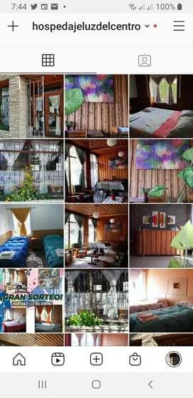Hospedaje Luz del centro en Neuquén capital,  Alcorta 474. Habitaciones con baño privado,TV,WiFi,  cocina compartida