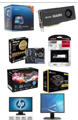 Pc Desktop i7 12gb Ram 8gb Tarjeta NVIDIA Quadro Video 250gb Ssd 2 Monitores Mesa + Accesorios