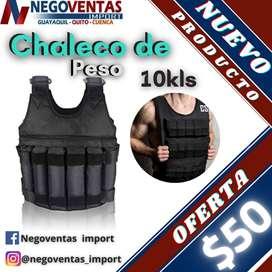 CHALECO DE PESO DE 10 Y 20 KLS